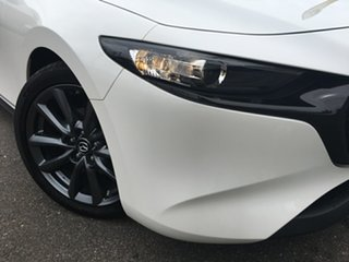 2020 Mazda 3 BP2H7A G20 SKYACTIV-Drive Touring White 6 Speed Sports Automatic Hatchback.
