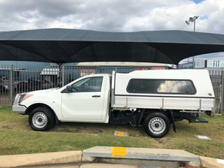 2014 Mazda BT-50 MY13 XT (4x2) White 6 Speed Manual Cab Chassis