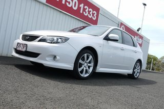 2007 Subaru Impreza G3 MY08 RS AWD White 5 Speed Manual Hatchback.