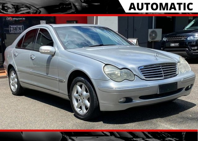Used Mercedes-Benz C-Class W203 C240 Elegance Ashmore, 2002 Mercedes-Benz C-Class W203 C240 Elegance Metallic Silver 5 Speed Sports Automatic Sedan