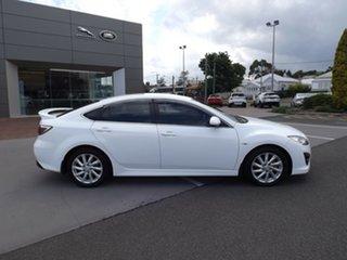 2011 Mazda 6 GH1052 MY10 Luxury Sports White 6 Speed Manual Hatchback.