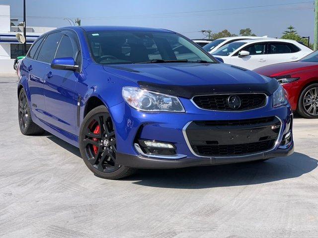 Used Holden Commodore VF II MY16 SS V Sportwagon Redline Liverpool, 2016 Holden Commodore VF II MY16 SS V Sportwagon Redline Blue 6 Speed Sports Automatic Wagon