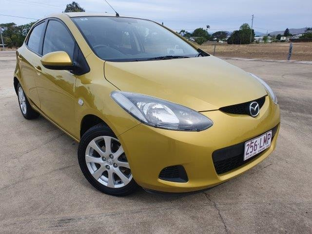 Used Mazda 2 DY10Y2 Maxx Townsville, 2007 Mazda 2 DY10Y2 Maxx Yellow 5 Speed Manual Hatchback