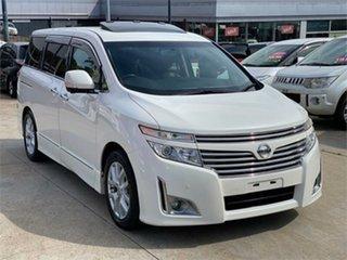 2011 Nissan Elgrand PNE52 VIP White Constant Variable Wagon.
