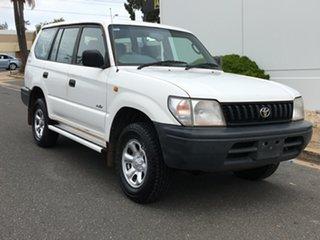 1998 Toyota Landcruiser Prado RZJ95R RV White 5 Speed Manual Wagon.