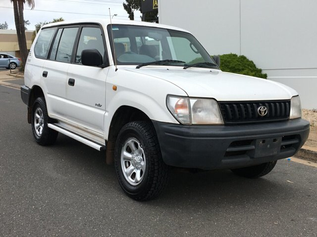 Used Toyota Landcruiser Prado RZJ95R RV Blair Athol, 1998 Toyota Landcruiser Prado RZJ95R RV White 5 Speed Manual Wagon