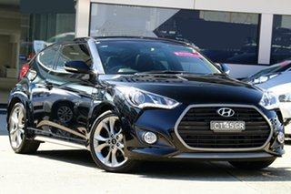2016 Hyundai Veloster FS5 Series II SR Coupe D-CT Turbo Black 7 Speed Sports Automatic Dual Clutch.