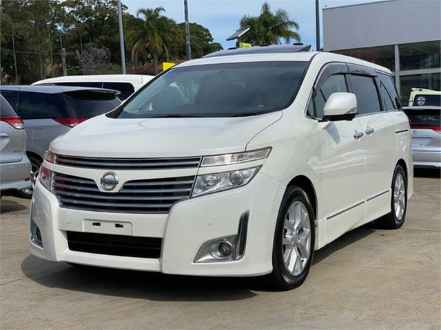 Used Nissan Elgrand VIP Silverwater, 2011 Nissan Elgrand PNE52 VIP White Constant Variable Wagon