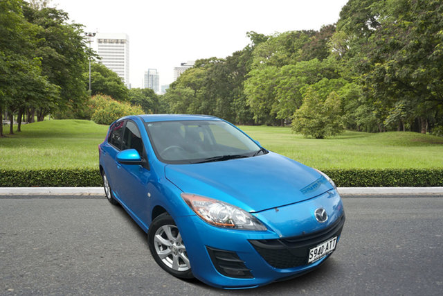 Used Mazda 3 BL10F1 MY10 Maxx Sport, 2011 Mazda 3 BL10F1 MY10 Maxx Sport Blue 6 Speed Manual Hatchback