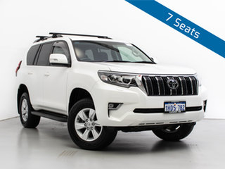 2018 Toyota Landcruiser Prado GDJ150R MY18 GXL (4x4) White 6 Speed Automatic Wagon.