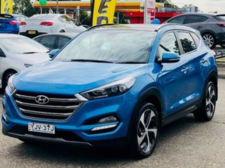 2016 Hyundai Tucson TLE Highlander AWD Blue 6 Speed Sports Automatic Wagon.