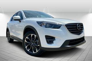 2016 Mazda CX-5 KE1032 Akera SKYACTIV-Drive AWD White 6 Speed Sports Automatic Wagon.