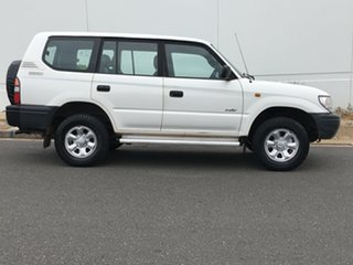 1998 Toyota Landcruiser Prado RZJ95R RV White 5 Speed Manual Wagon.