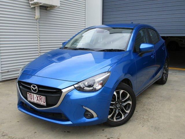 Used Mazda 2 DJ2HAA Genki SKYACTIV-Drive, 2017 Mazda 2 DJ2HAA Genki SKYACTIV-Drive Blue 6 Speed Sports Automatic Hatchback