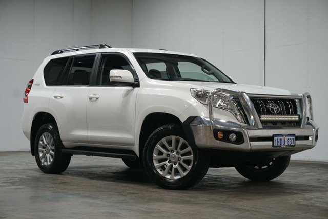 Used Toyota Landcruiser Prado GDJ150R GXL Welshpool, 2017 Toyota Landcruiser Prado GDJ150R GXL White 6 Speed Sports Automatic Wagon