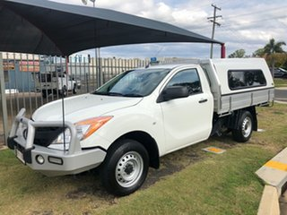 2014 Mazda BT-50 MY13 XT (4x2) White 6 Speed Manual Cab Chassis.