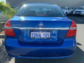 2010 Holden Barina TK MY10 Blue 4 Speed Automatic Sedan.