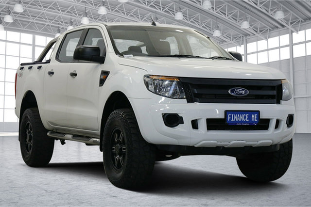 Used Ford Ranger PX XL Victoria Park, 2013 Ford Ranger PX XL Cool White 6 Speed Manual Utility
