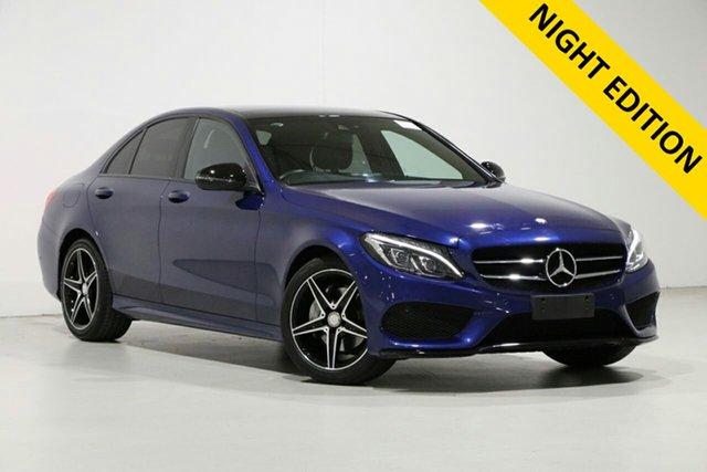 Used Mercedes-Benz C200 205 MY16 Night Edition Bentley, 2016 Mercedes-Benz C200 205 MY16 Night Edition Blue 7 Speed Automatic Sedan