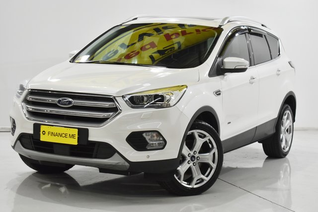 Used Ford Escape ZG 2018.00MY Titanium Brooklyn, 2018 Ford Escape ZG 2018.00MY Titanium White 6 Speed Sports Automatic Dual Clutch SUV