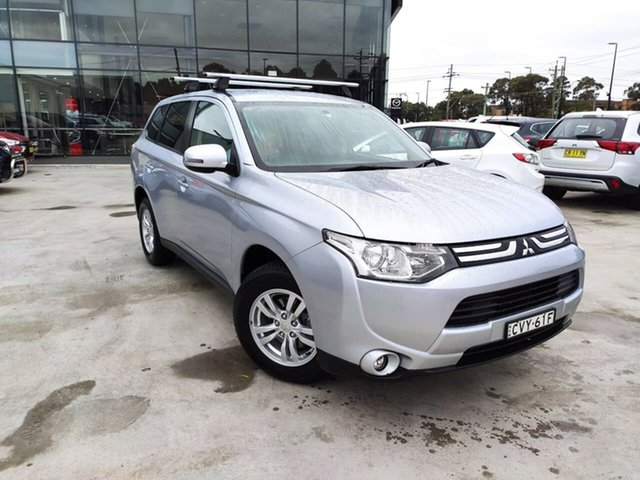 Used Mitsubishi Outlander ZJ MY13 LS 4WD Liverpool, 2013 Mitsubishi Outlander ZJ MY13 LS 4WD Silver, Chrome 6 Speed Constant Variable Wagon