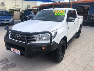 2015 Toyota Hilux GUN136R SR Double Cab 4x2 Hi-Rider White 6 Speed Sports Automatic Utility.