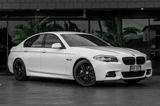 2013 BMW 5 Series F10 MY1112 520d Steptronic White 8 Speed Sports Automatic Sedan.