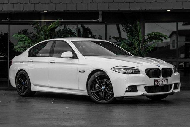 Used BMW 5 Series F10 MY1112 520d Steptronic Bowen Hills, 2013 BMW 5 Series F10 MY1112 520d Steptronic White 8 Speed Sports Automatic Sedan