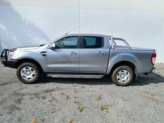 2016 Ford Ranger PX MkII XLT Double Cab Silver 6 Speed Manual Utility.