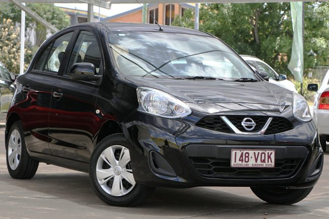 Used Nissan Micra K13 Series 4 MY15 ST, 2015 Nissan Micra K13 Series 4 MY15 ST Black 4 Speed Automatic Hatchback