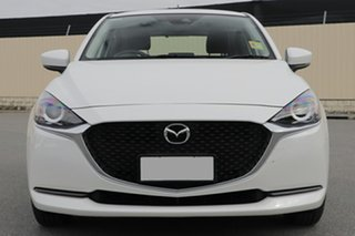 2020 Mazda 2 DJ2HAA G15 SKYACTIV-Drive Pure White Pearl 6 Speed Sports Automatic Hatchback