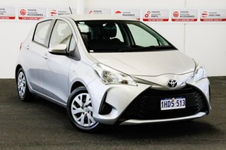 2018 Toyota Yaris NCP130R Ascent Silver Pearl 4 Speed Automatic Hatchback.