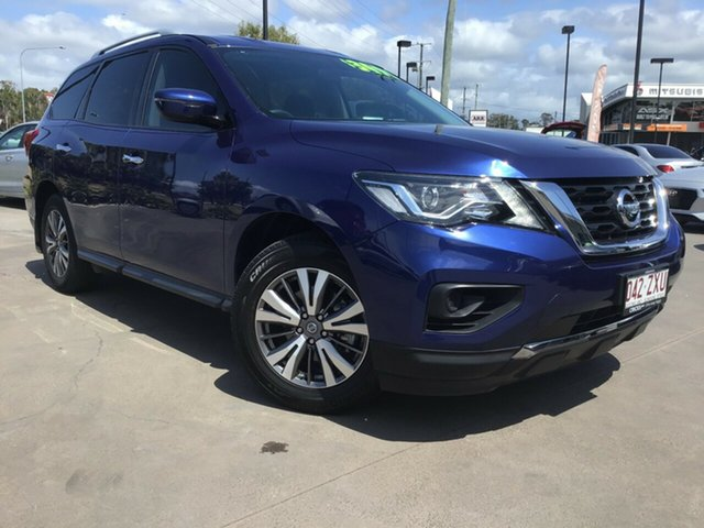 Used Nissan Pathfinder R52 Series II MY17 ST X-tronic 2WD Caloundra, 2018 Nissan Pathfinder R52 Series II MY17 ST X-tronic 2WD Blue 1 Speed Constant Variable Wagon