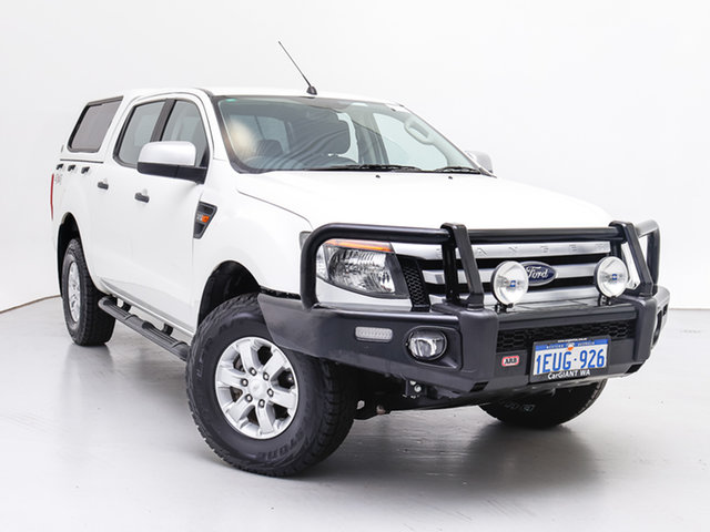 Used Ford Ranger PX XLS 3.2 (4x4), 2015 Ford Ranger PX XLS 3.2 (4x4) White 6 Speed Automatic Double Cab Pick Up