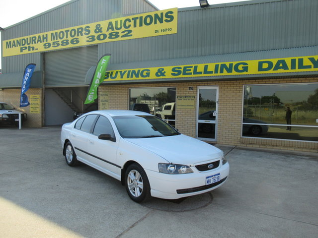 Used Ford Falcon BA XT Mandurah, 2003 Ford Falcon BA XT White 4 Speed Automatic Sedan