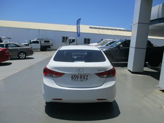 2011 Hyundai Elantra MD Active White 6 Speed Automatic Sedan.