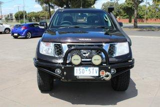 2012 Nissan Navara D40 MY12 ST (4x4) Black 6 Speed Manual Dual Cab Pick-up.