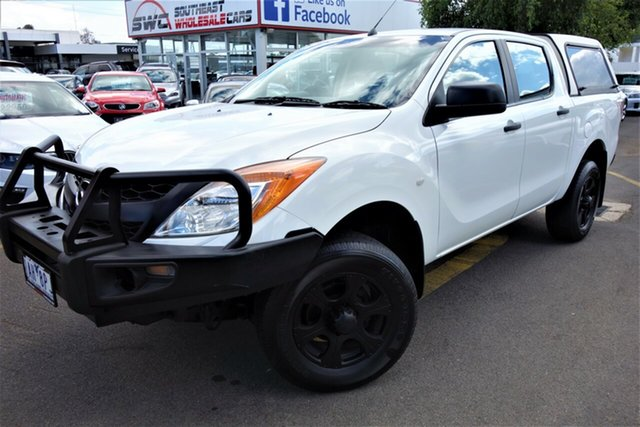 Used Mazda BT-50 UP0YF1 XT 4x2 Hi-Rider, 2013 Mazda BT-50 UP0YF1 XT 4x2 Hi-Rider White 6 Speed Manual Cab Chassis