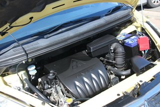 2007 Mitsubishi Colt RG MY07 ES Yellow 5 Speed Manual Hatchback
