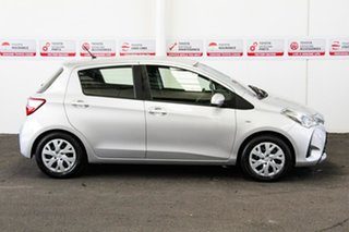 2018 Toyota Yaris NCP130R Ascent Silver Pearl 4 Speed Automatic Hatchback