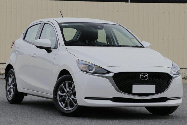 New Mazda 2 DJ2HAA G15 SKYACTIV-Drive Pure Wollongong, 2021 Mazda 2 DJ2HAA G15 SKYACTIV-Drive Pure Snowflake White Pearl 6 Speed Sports Automatic Hatchback