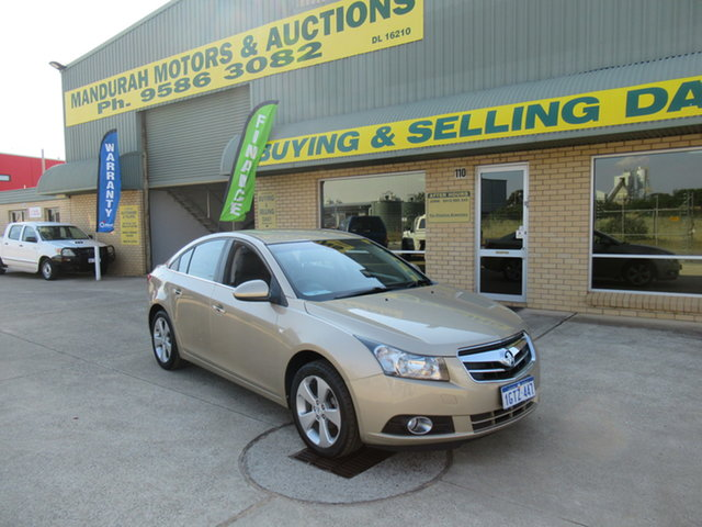 Used Holden Cruze JG CDX Mandurah, 2009 Holden Cruze JG CDX Gold 5 Speed Manual Sedan