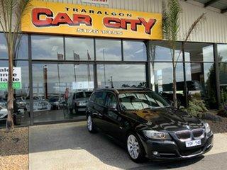2010 BMW 320d E91 MY10 Touring Lifestyle Black 6 Speed Auto Steptronic Wagon.