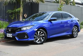 2018 Honda Civic 10th Gen MY18 VTi-S Blue 1 Speed Constant Variable Hatchback.