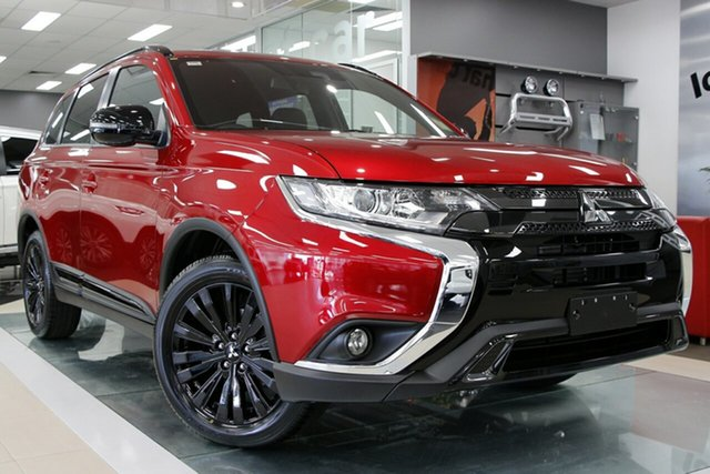 New Mitsubishi Outlander ZL MY21 Black Edition 2WD Hamilton, 2021 Mitsubishi Outlander ZL MY21 Black Edition 2WD Red Diamond 6 Speed Constant Variable Wagon