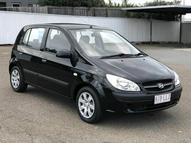 Used Hyundai Getz TB MY09 S Chermside, 2008 Hyundai Getz TB MY09 S Black 5 Speed Manual Hatchback