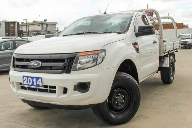 Used Ford Ranger PX XL Coburg North, 2014 Ford Ranger PX XL White 6 Speed Manual Cab Chassis