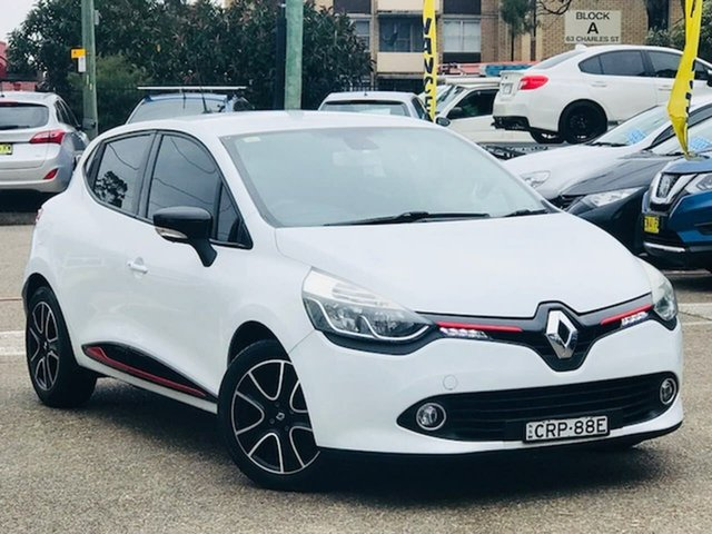 Used Renault Clio IV B98 Expression EDC, 2013 Renault Clio IV B98 Expression EDC White 6 Speed Sports Automatic Dual Clutch Hatchback