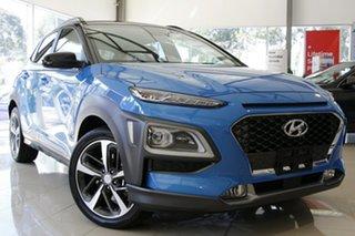 2020 Hyundai Kona OS.3 MY20 Highlander TTR (FWD) Ceramic Blue & Black Roof 6 Speed Automatic Wagon