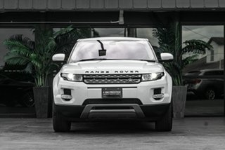 2012 Land Rover Range Rover Evoque L538 MY13 TD4 CommandShift Pure White 6 Speed Sports Automatic.